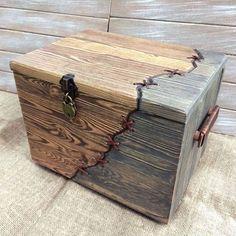Купить или заказать Сундук деревянный 'Франкенштейн'. в интернет-магазине на Ярмарке Мастеров. Сундук деревянный. Две половины разных цветов, прошит шнуром из натуральной кожи. Ручки с деревянной основой обмотанной кожаным шнуром. Все стенки с глубокой брашировкой, получилась очень красивая и приятная на ощупь структура дерева. Покрыт защитным воском. Закрывается на замок.