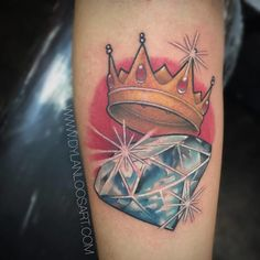 69 Magnificent Crown Tattoo Ideas For People Who Are Majestic By Nature Diamond Crown Tattoo, Black Diamond Tattoos, Diamond Tattoo Designs, Crown Tattoo Design, Gem Tattoo, Jewel Tattoo, Crown Tattoos For Women, Tattoos For Guys, Traditional Tattoo Crown