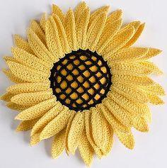 Crocheted Sunflower pattern | Irish Crochet Lab