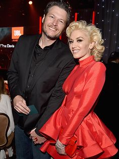 Blake Shelton and Gwen Stefani Stun in Their Romantic Event Debut – and Blake Can't Keep His Hands Off of Her! Description from people.com. I searched for this on bing.com/images