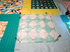 using press & seal to draw quilting design then sew right over it! SOOO smart
