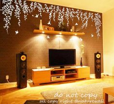 Tree wall decals nature decals nursery decals by walldecals001