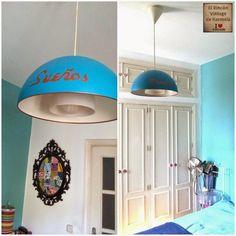 Hoy toca DIY, una lámpara de Ikea transformada en un sueño turquesa.