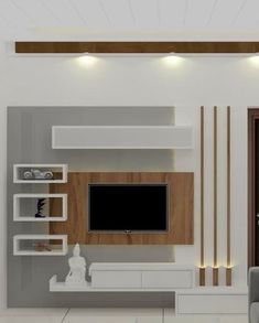 TV wall unit Designs is an essential part while designing your living room, Bedroom or tv room. Tv Stand Designs For Living Room have to be. Tv Unit Interior Design, Tv Unit Furniture Design, Tv Wall Design, Modern Tv Room, Modern Tv Wall Units, Modern Living, Tv Cabinet Design Modern, Modern Wall, Tv Unit Decor