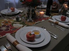 rosh hashanah table setting ideas
