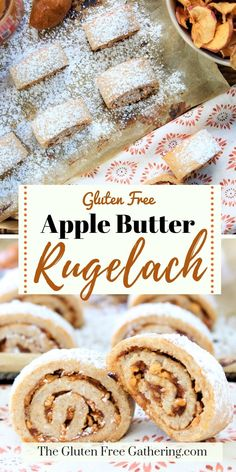 Gluten Free Apple Butter Rugelach • The Gluten Free Gathering - You CAN make gluten free rugelach and these apple rugelach are amazing. #glutenfreecookies #glutenfreerugelach #rugelach #applerecipes