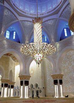 Sheikh Zayed Bin Sultan Al Nahyan Mosque, Abu Dhabi  Best lighting design