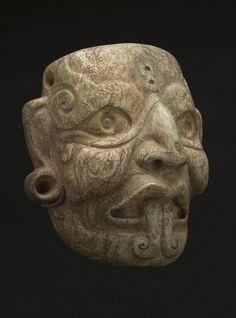Regional Masks Southern Mexico/Northern Guatemala - Mayan - Mask of Tlaloc, 300-200 BCE Jade
