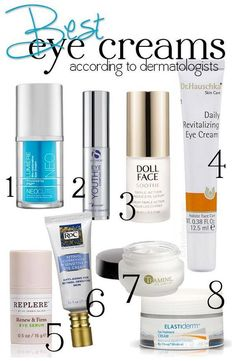 Best Eye Creams according to dermatologists