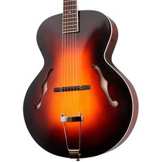 The Loar Archtop Acoustic Guitar Vintage Sunburst Archtop Acoustic Guitar, Jazz Guitar, Mandolin, Hand Carved, Music Instruments, Guitars, Vintage, Products, Musical Instruments