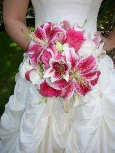 Stargazer Lily Wedding Flowers bouquet