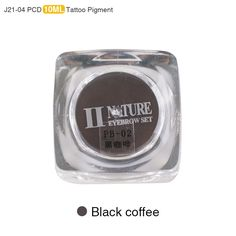 PCD Permanent Makeup Ink Eyebrow Tattoo Ink Set Lip Microblading Pigment Professional Encre A Levre 10ML J21 Black Coffee
