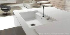 Corian® kitchen sink LINEA by Marconato & Zappa  DuPont CORIAN