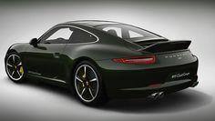 2013 Porsche 911 Club Coupe Rear 3/4 View