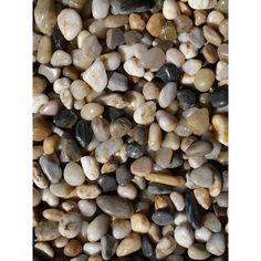 Exotic Pebbles & Aggregates 5-pound Mixed Polished Gravel (Decorative Rock & Glass), Multi, Outdoor Décor