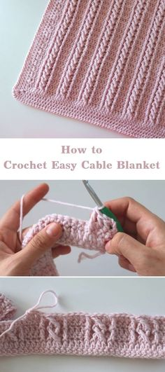 Crochet easy cable blanket beginner step by step instructions and photos to knit a bunny from a square step 1 to commence we will throw with various appea beginner blanket cable diy blumenkronen mit einfachen quaste pflanzenwuchs gemacht crowns diy e Crochet Simple, Crochet Diy, Crochet Crafts, Easy Things To Crochet, How To Crochet, Diy Crafts Knitting, Crochet Amigurumi, Double Crochet, Fabric Crafts