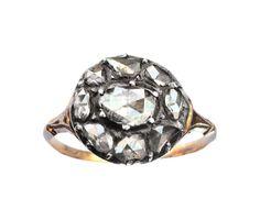 Trendy Diamond Rings :    Late 1700s Georgian Rose Cut Diamond Cluster Ring. #engagementring #vintage #antique  - #Rings https://youfashion.net/wedding/rings/diamond-rings-late-1700s-georgian-rose-cut-diamond-cluster-ring-engagementring-vintage-ant/