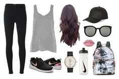 """""""Outfit 32"""" by decemberbaby19 ❤ liked on Polyvore featuring J Brand, Valentino, NIKE, Lime Crime, Equipment, Karen Walker, BCBGeneration and Ted Baker"""