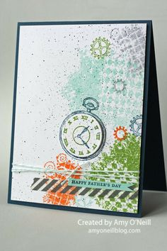 A Clockworks Father's Day Card