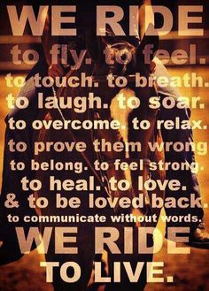 Love this! I love to ride, beat that ;) [ CyclePartsAlley.com ]