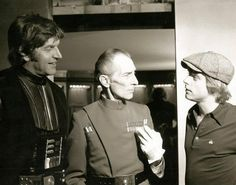 David Prowse, Peter Cushing and Mark Hamill.