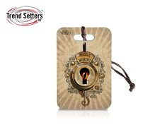 """Make your magic suitcase """"Muggle Worthy"""" with a flip of the switch! This Fantastic Beasts and Where to Find Them tag has the flexibility to be used as a luggage tag, keychain, or zipper pull, depending on how you choose to it."""