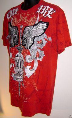 Raw Blue Royal Estoc Red T-Shirt Streetwear Hip Hop Medieval Helmet Armour  Large   9fe6e39f7f0