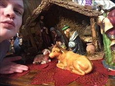 MINIATURE nativity scene