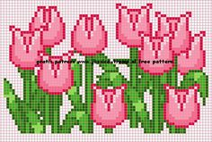 Tulips Jessica cross stitch.