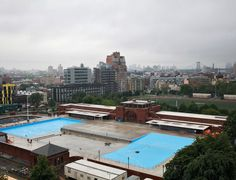 Now, 2012:  The McCarren pool, in McCarren Park, Greenpoint, Brooklyn (on the Greenpoint-Williamsburg border in Brooklyn)