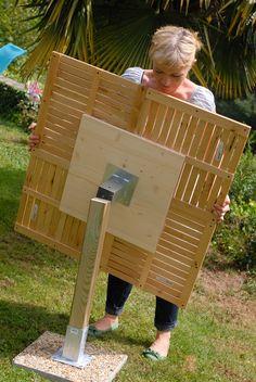 Create a garden table DIY family - diy and crafts Diy Outdoor Furniture, Garden Furniture, Diy Furniture, Table En Bois Diy, Diy Table, Diy Garden Table, Beer Garden, Outdoor Projects, Garden Projects