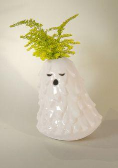 Singing Brownies - Medium Singing Brownie, vase, ceramic sculpture, decorative object for interiors. by Diploo Studio at Bouf.com