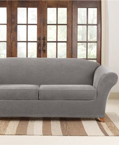 Sofa Cover Sure Fit Stretch Pique Cushion Sofa Slipcover