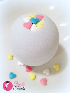 Candied Hearts Bath Bomb Fizzy  Valentine's by BodyTreatsHomeSpa