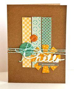 Hello Sunshine Card by Valerie Mangan via Jillibean Soup Blog