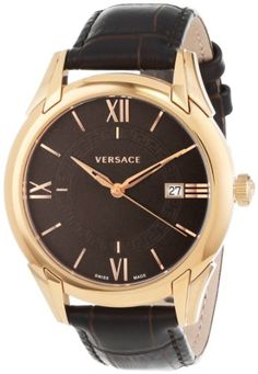 """Versace Men's VFI030013 """"Apollo"""" Rose Gold Ion-Plated Stainless Steel Dress Watch with Leather Band Versace http://www.amazon.com/dp/B00CW699YI/ref=cm_sw_r_pi_dp_oQpnub0CV3D4M"""
