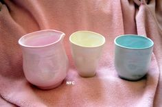 ceramic pitcher and tumblers