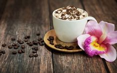 Cappuccino Chocolate wallpaper by _lovey_ - 56 - Free on ZEDGE™ Best Coffee Shop, I Love Coffee, My Coffee, Coffee Cups, Morning Coffee, Cappuccino Maker, Cappuccino Machine, Café Chocolate, Pause