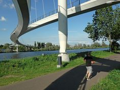 https://flic.kr/p/Fau5eU | 2011.07 - 'Photo of modern bridge architecture - a narrow long bridge with floating construction, built for pedestrians and cyclists over the canal Amsterdam/Rijnkanaal; geotagged photo in the public domain | Photo of modern Dutch bridge architecture: the Nescio-brug. This is a new and tendril waving bridge with floating construction, built for pedestrians and cyclists over the canal Amsterdam-Rijnkanaal - location, northeast of Amsterdam, the bridge is the…