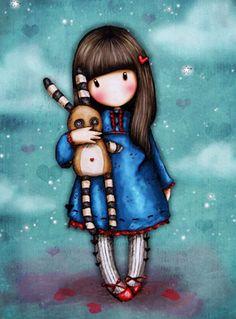 Сюзанна Вулкотт  открытки - Тише Маленький кролик