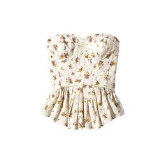 Floral Bustier Shop Summer's 5 Best Trends Summer Fashion 2010 ❤ liked on Polyvore