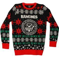 ramones ugly christmas sweater sweatshirt ramones christmas xmas music rock - Metal Band Christmas Sweaters