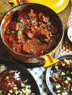 "Lamb Madras is a spicy favourite for many. In my cookbook, ""The Curry Guy"" I show you not only how to make this with lamb but also explain how you can substitute other meats and/or vegetables to make a Madras curry that is exactly as you like it. Lamb Recipes, Spicy Recipes, Curry Recipes, Meat Recipes, Indian Food Recipes, Asian Recipes, Chicken Recipes, Cooking Recipes, Cooking Tips"