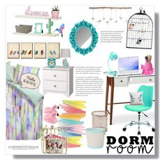 Girly Dorm by artistic-biscuit on Polyvore featuring polyvore, interior, interiors, interior design, home, home decor, interior decorating, Prepac, Office Star, Pillowfort, Urban Outfitters, Essenza, Dot & Bo, Pier 1 Imports, Uttermost, H&M, Sony and bedroom