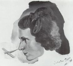 Portrait of Gala with a Lobster (Portrait of Gala with Aeroplane Nose), 1934
