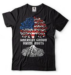 07da4fe1dfc American Grown Viking Roots T-Shirt American Viking Tee Shirt