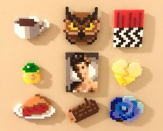 Twin Peaks Retro Magnets Perler Bead Pins 8 bit Pixel Art by ThePixelArtShop on Etsy https://www.etsy.com/listing/536226543/twin-peaks-retro-magnets-perler-bead