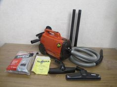 eureka mighty mite canister vacuum cleaner with attachments