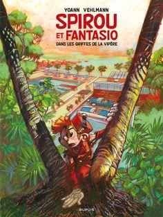 Tirage de Tête de Spirou et Fantasio, Dans les griffes de la vipère, N°53, par Yoann et Vehlmann, éditions Dupuis, 2012.