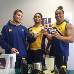 Solid milk mo's!! The @otagorugbyteam faced off in a smoothie making competition using Inline protein powders. Although these guys won the presentation award, the Pina Colada smoothie was voted most delicious post-training recovery smoothie. Check out the recipes on our website! #milkmoustache #proteinsmoothierecipes #inlinenutrition #recoverysmoothies #post-training Protein Smoothie Recipes, Smoothies, Whey Protein Powder, Pina Colada, Inline, Plant Based Diet, Recovery, Competition, Presentation